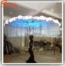 fiber optic light tree decorative light tree landscape fiber optic tree base flower led