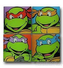 Tmnt Bathroom Set Teenage Mutant Ninja Turtles Glass Coaster Set Geek Decor Ninja