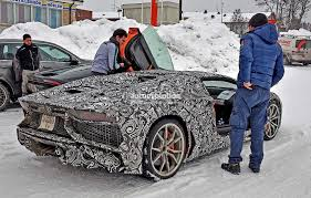 lamborghini aventador sv top speed spyshots lamborghini aventador sv roadster spotted during winter