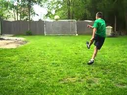 amazing backyard soccer shots youtube
