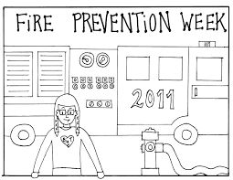 fire prevention coloring pages firefighter coloring pages for