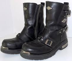 harley davidson boots harley davidson boots mens black riding buckles zipper size 11 1 2