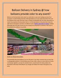 balloon delivery sydney balloon delivery in sydney how balloons provide color to any