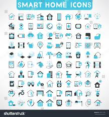 home automation icons set smart home stock vector 249171766