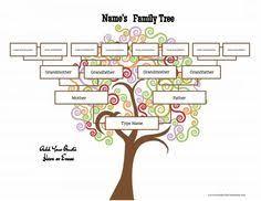 family tree family tree templates pinterest family tree