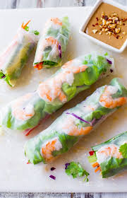 rice paper wrap fresh summer rolls with easy peanut dipping sauce