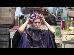 boys forced to get a perm pouting and mad with perm rods in her hair youtube