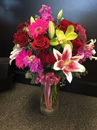 Traditional Flower Arrangement - traditional assorted vase arrangement in santa barbara ca alpha