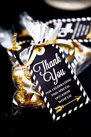 college graduation favors black and gold graduation party graduation end of school party
