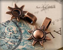 small sun and moon bails vintage copper plated