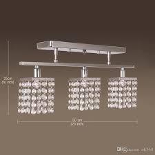 linear flush mount ceiling light online cheap modern 3 lights crystal led ceiling light linear design