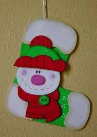 muñeco de nieve goma eva y demás pinterest navidad