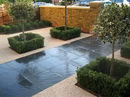 paving backyard stone contemporary garden design contemporary