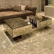 Modern Italian Coffee Tables Modern Italian Mirrored Bar Coffee Table Juliettes Interiors