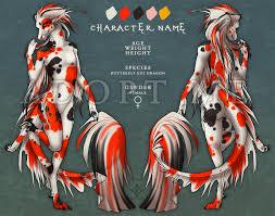 butterfly koi character auction by darkicewolf on deviantart