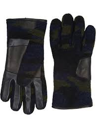ugg mens gloves sale ugg fabric smart gloves w leather trim at 6pm