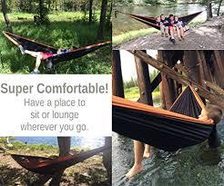 timberrec double hammock xl parachute camping hammock for indoor