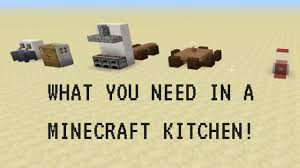 how to make kitchen furniture in minecraft youtube