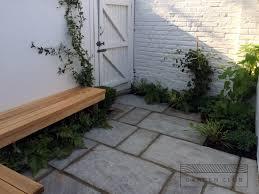 adams garden design perth wa bench is of tasmanian oak with metal