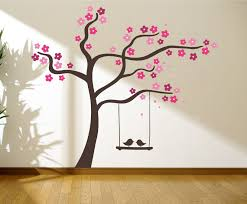 tree with birds on a swing wall graphics wall graphic tree