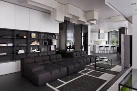 katasonova design creates a black and white apartment for a young