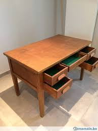 bureau ancien en bois bureau ancien en bois 5 tirois meuble métier vintage a