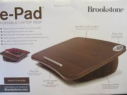 Epad Laptop Desk Brookstone E Pad Portable Desk Gray Computer