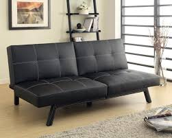 woodbridge home design furniture vinyl futon black split back art of furnishing u0026 mattress