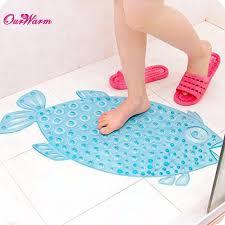 2017 72x 36cm waterproof pvc bathroom non slip mat fish shaped