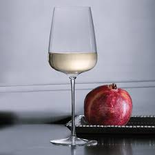 italesse white wine glasses mouth blown set of 2 the wine kit