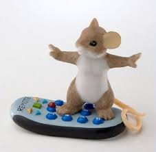 charming tails mouse figurine channel surfing home