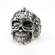 cool skull rings images Vintage antique silver color skull rings zinc alloy finger punk jpg
