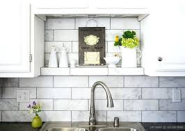 kitchen with subway tile backsplash white tile backsplash kitchen thecoursecourse co