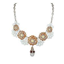 orange statement necklace images Tear drops flower motif orange statement necklace jpg