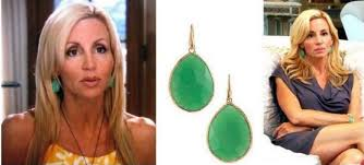 serenity earrings camille grammer s jade drop earrings big hair