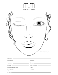 professional makeup books chart for practice and repertoire of looks make ups