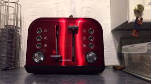 Morphy Richards 2 Slice Toaster Red My Morphy Richards Toaster Launches My Bread Youtube