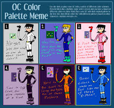 Different Color Schemes Oc Color Palette Meme The Stretcher By The One Aardvark On Deviantart