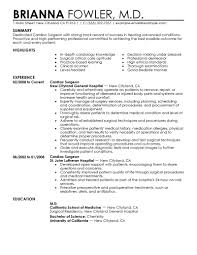 Best Font For Healthcare Resume by Best Surgeon Resume Example Livecareer