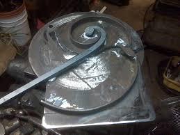 compound scroll jig iron designs blacksmith tools