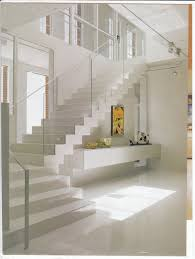 single stainless steel railing glass stairs modern stair excerpt