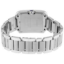 stainless steel cartier bracelet images Cartier tank anglaise silver dial diamond stainless steel ladies jpg