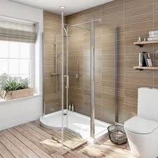 1500 Shower Door Orchard 6mm Left Handed P Shaped Shower Enclosure With Tray 1500 X