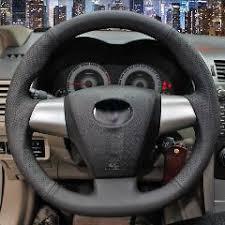 toyota corolla steering wheel cover black leather car steering wheel cover for toyota land cruiser