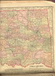 Map Of Oklahoma Counties Railroad Maps