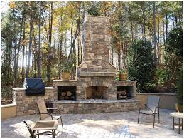 Backyard Bbq Design Ideas by Backyards Bright Old Brick Outdoor Fireplace The Great