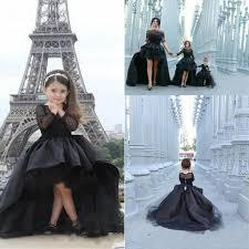hi lo pageant dresses for girls jewel long sleeve flower kids