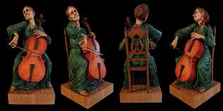 wood carving caricatures carving the cellist woodcarving and sculpting by fred zavadil