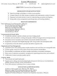 customer service representative resumes customer service representative resume sle
