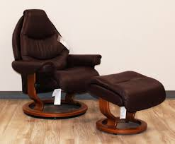 Brown Leather Chair With Ottoman Stressless Voyager Premium Royalin Amarone Leather Recliner Chair
